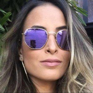 Rayban Sunglasses Flat Hexagonal Lilac RB3548
